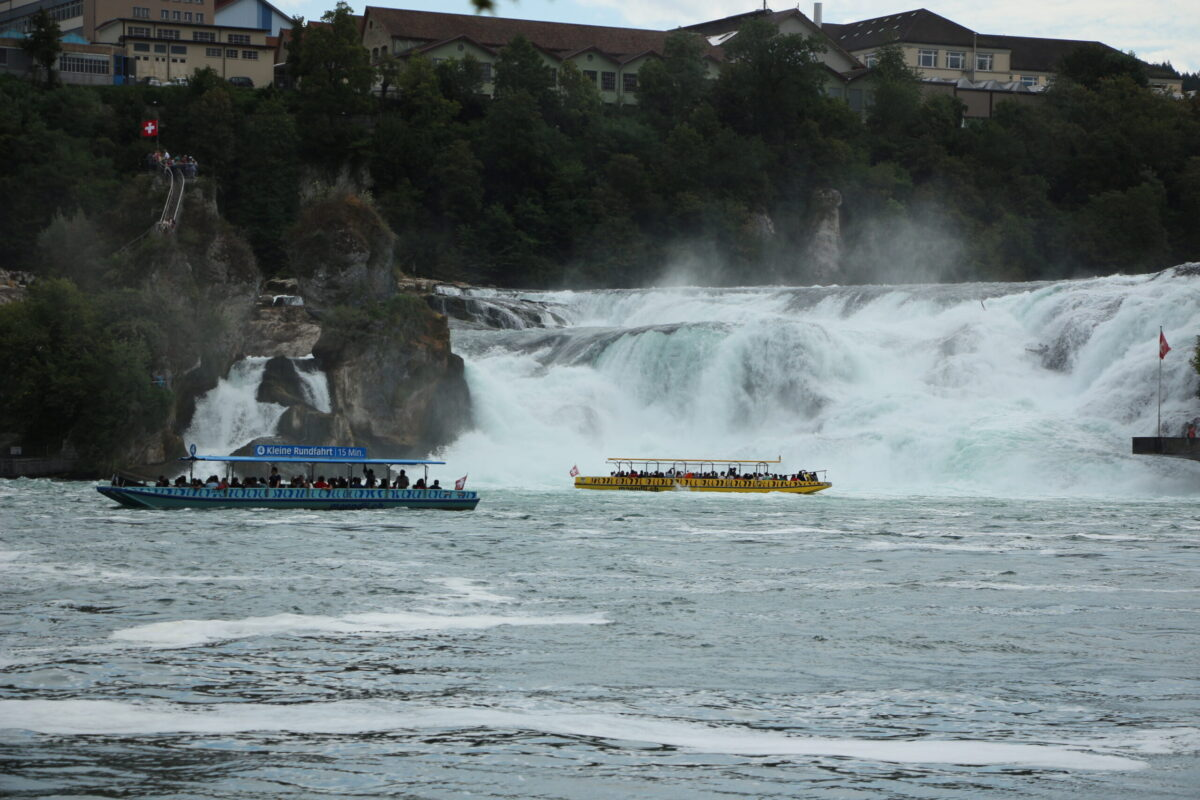 Beautiful Rhine falls Switzerland