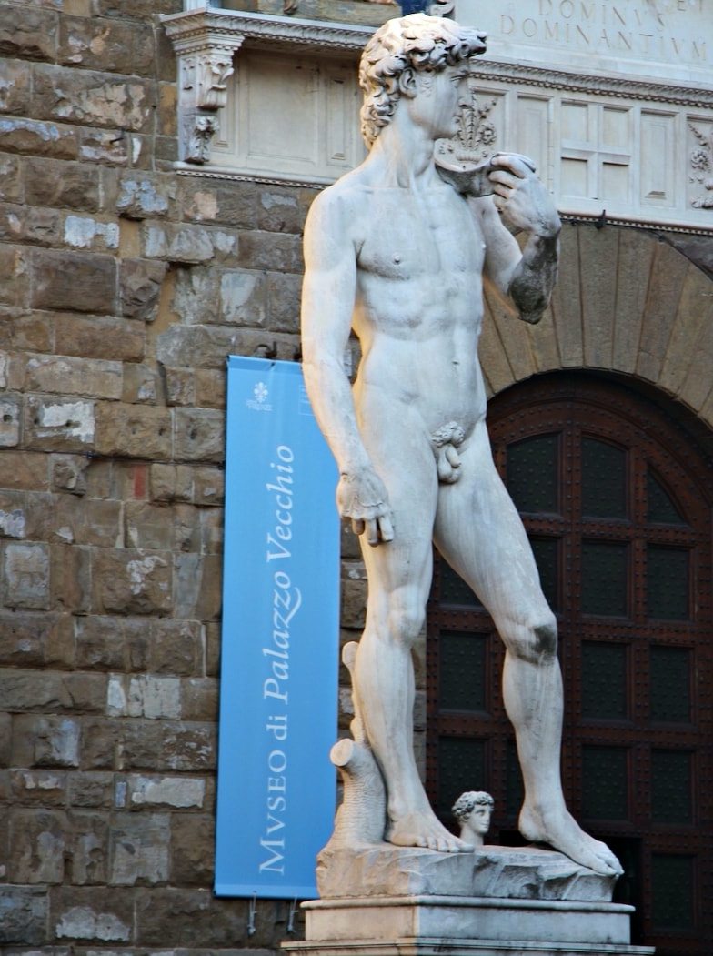 picture of Michelangelo's David in Florence